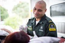 Our ambulance officers are at the front-line. The job requires equal parts of integrity, teamwork, professionalism and empathy.