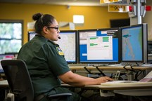 Teams of Emergency Medical Dispatchers answer 111 calls and coordinate the ambulance response.