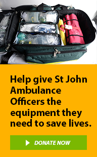 Help give St John Ambulance Officers the equipment they need to save lives.