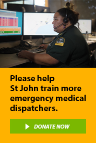 Please help St John train more emergency medical dispatchers.