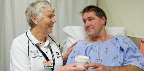 Our people provide comfort and support to patients, whanau and friends