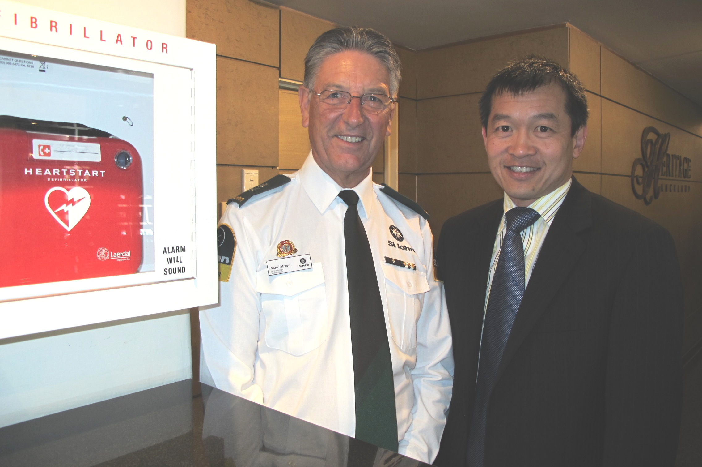 Heritage Hotels CEO Graham Yan with Gary Salmon, General Manager, St John Northern Region